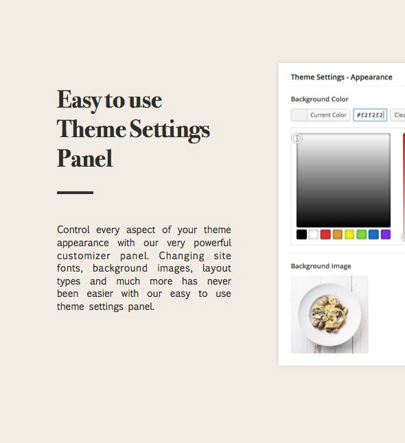 cooking recipes theme with powerful and easy customizer