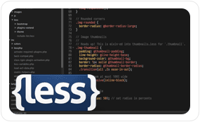 Wordpress theme build on Bootstrap and LESS css