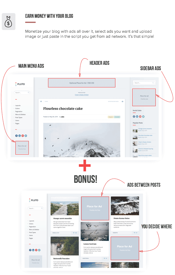 Pluto Clean Personal WordPress Masonry Blog Theme
