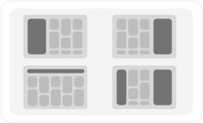Flexible menu & sidebar positions
